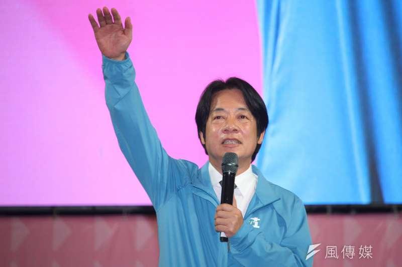 面對藍營質疑民進黨副總統參選人賴清德的台獨立場,賴清德(見圖)18日晚間在臉書發文表示,台灣已經是主權獨立的國家,不必再另外宣布台灣獨立。(蔡親傑攝)