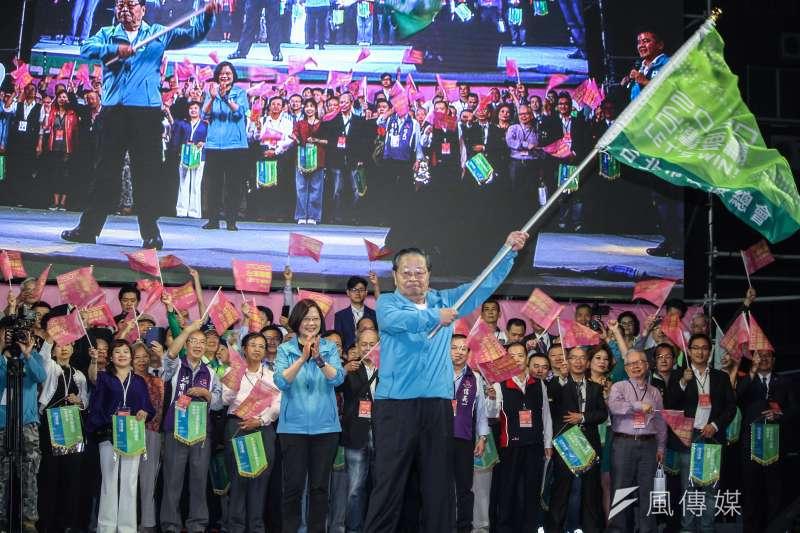圖為民進黨正副總統候選人蔡英文、賴清德全國競選總部成立。(蔡親傑攝)
