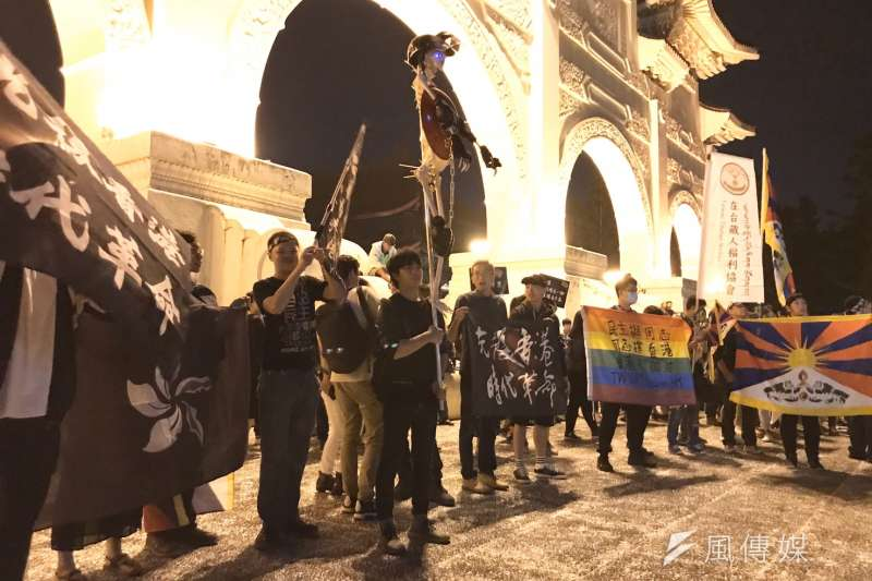 20191117-「守民主護台灣大聯盟」與香港策展團隊合作,17日也在自由廣場舉辦「撐香港要自由」演唱會聲援香港。(黃信維攝)