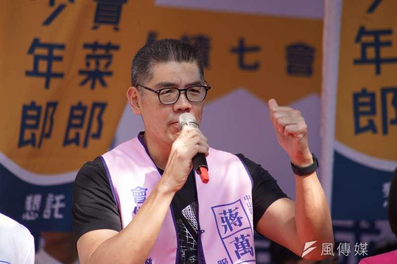 20191117-連勝文17日出席立委蔣萬安競選總部成立大會。(盧逸峰攝)