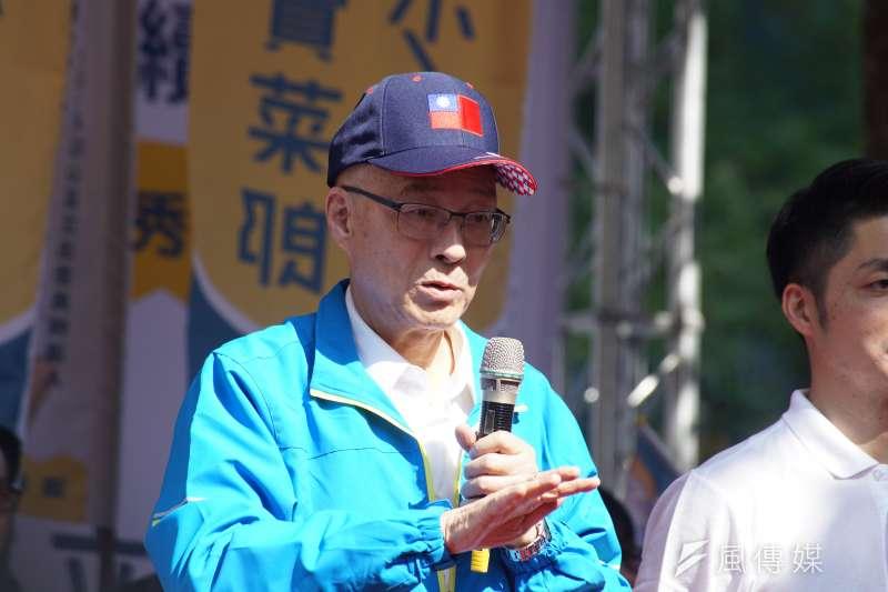國民黨不分區立委名單引發基層反彈,黨主席吳敦義17日表示,這是經黨內嚴謹程序,且公正、公開,並非一人可做的決定。(盧逸峰攝)