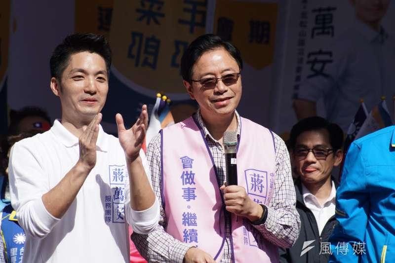 20191117-國民黨副總統參選人張善政17日出席立委蔣萬安競選總部成立大會。(盧逸峰攝)