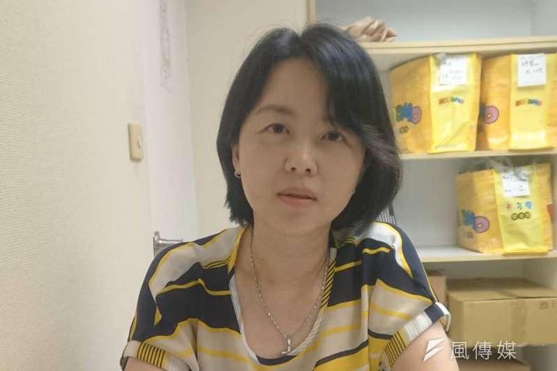 20191118-勵馨基金會台北分區事務所主任王淑芬。(黃天如攝)