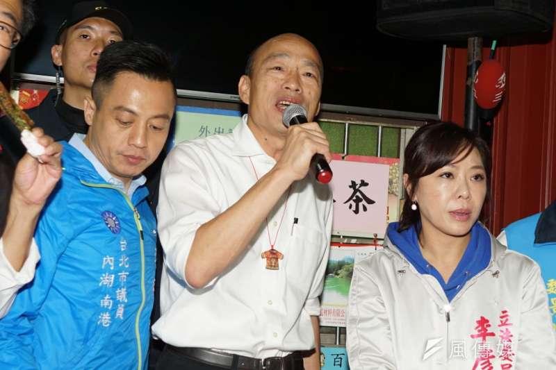 20191118-國民黨總統候選人韓國瑜18日前往內湖與立委李彥秀造勢。(盧逸峰攝)