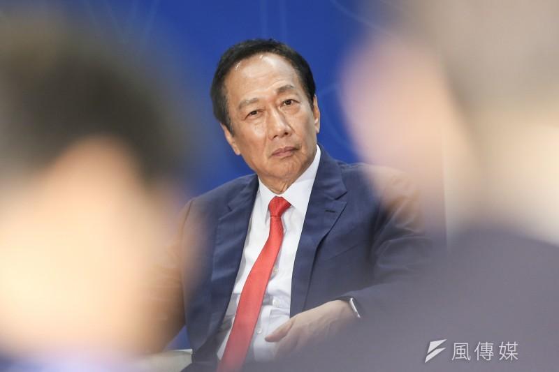 前鴻海董事長郭台銘未來在鴻海扮演何種角色?引人好奇。(簡必丞攝)