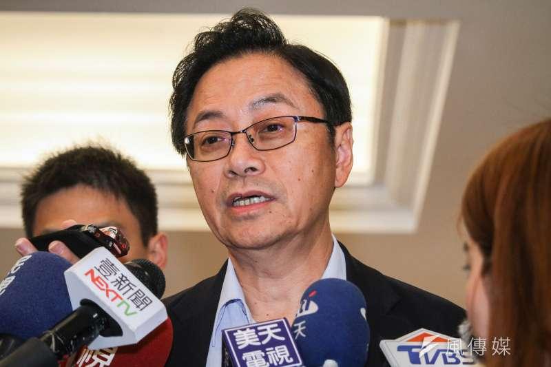 國民黨副總統參選人張善政(蔡親傑攝)