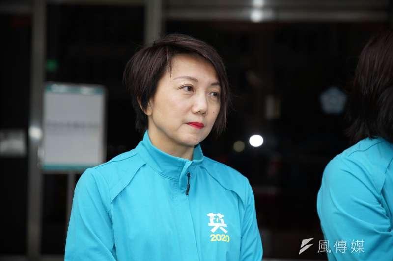 20191120-民進黨20日舉行「台灣要贏、團結前行」不分區立委登記參選記者會,立委候選人范雲出席。(盧逸峰攝)