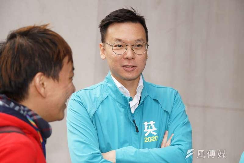 20191120-民進黨20日舉行「台灣要贏、團結前行」不分區立委登記參選記者會,副秘書長林飛帆出席。(盧逸峰攝)