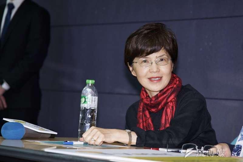 20191120-中山大學教授廖達琪20日出席區塊鍊記者會。(盧逸峰攝)