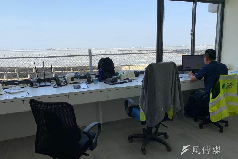韋能能源得標的80公頃光電案場,最終開發為裝置容量70MW的艾貴義竹光電廠,是全台目前最大的民營地面型光電廠。(尹俞歡攝)
