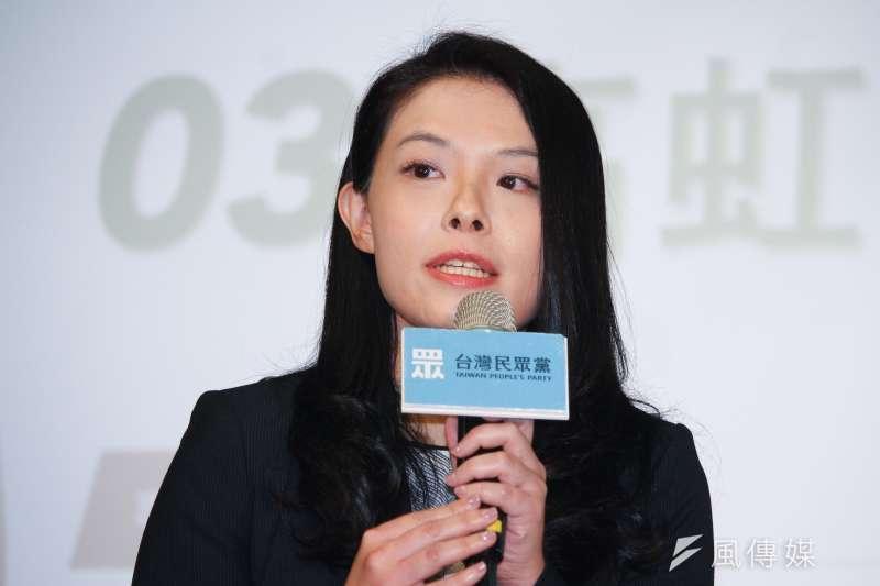 20191121-台灣民眾黨不分區立委提名人21日舉行媒體見面會,圖為第三提名人永齡基金會顧問高虹安。(蔡親傑攝)