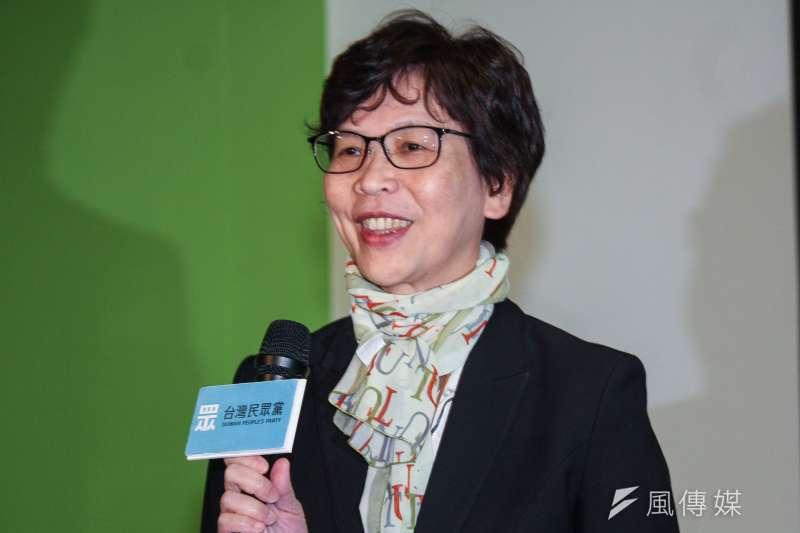 20191121-台灣民眾黨不分區立委提名人21日舉行媒體見面會,圖為第五提名人台北市政府顧問蔡壁如。(蔡親傑攝)