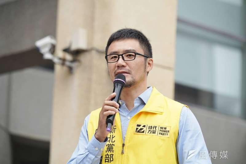 時代力量新北市黨部主委陳志明(盧逸峰攝)