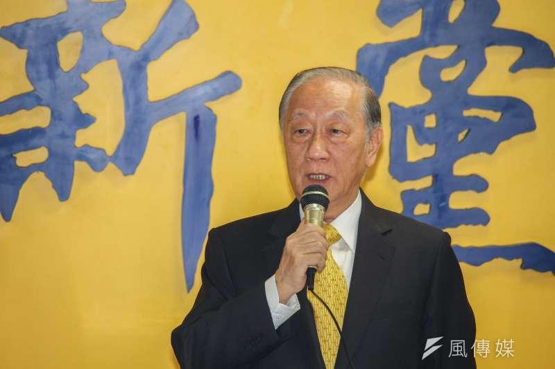 新黨榮譽主席郁慕明(見圖)坦承,新黨泡沫、統派滅絕是現在進行式。(資料照,蔡親傑攝)