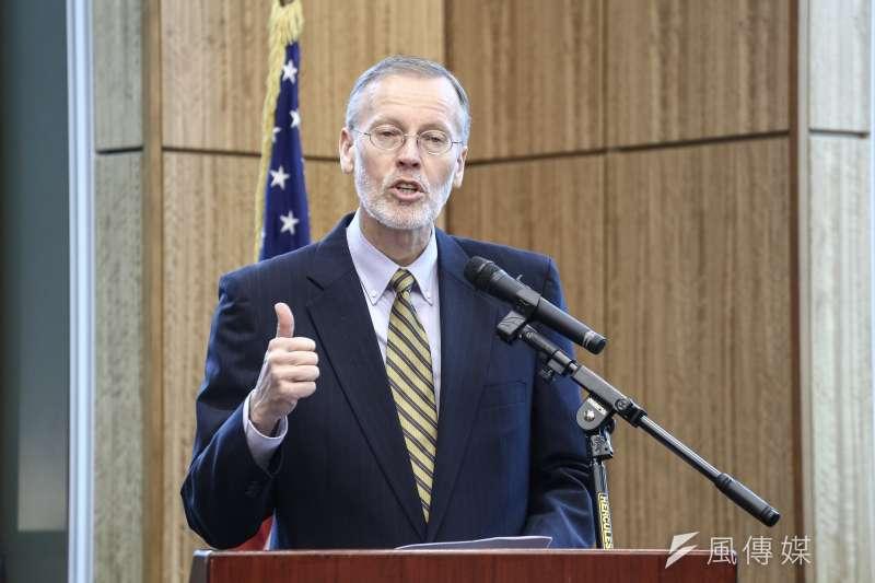 美國在台協會(AIT)台北辦事處處長酈英傑。(陳品佑攝)