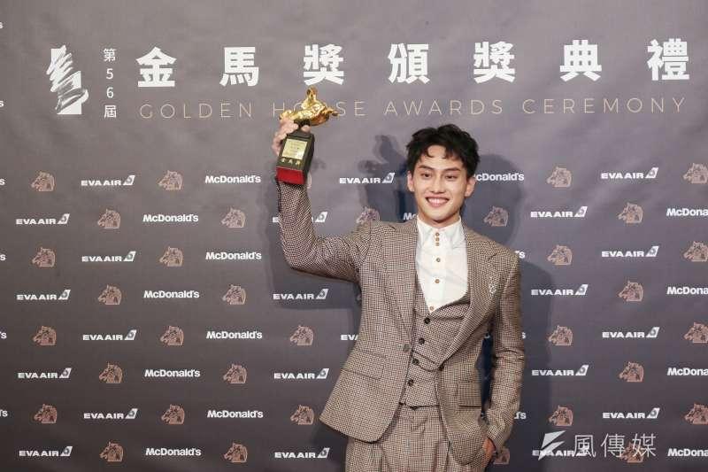 《下半場》的范少勳奪得金馬獎最佳新演員。(簡必丞攝)