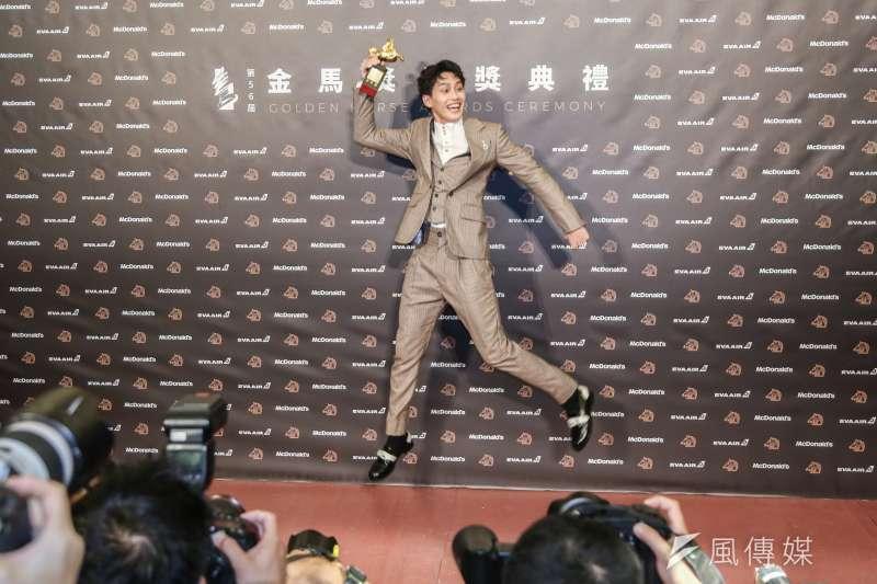 20191123-第56屆金馬獎頒獎典禮,范少勳/下半場 獲得最佳新演員。(簡必丞攝)