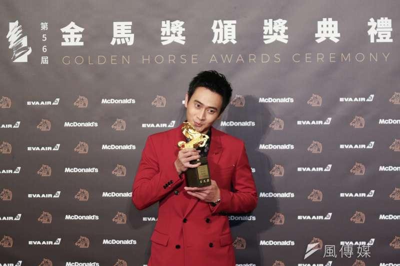 《陽光普照》的劉冠廷奪下最佳金馬獎男配角。(簡必丞攝)