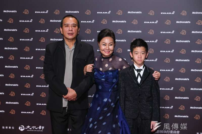 20191123-第56屆金馬獎,那個我最愛的陌生人導演張作驥(左起)、女主角呂雪鳳。(顏麟宇攝)