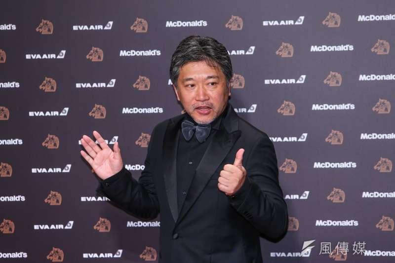 第57屆金馬獎將於11月底舉行頒獎,日本導演是枝裕和將提前來台接受14天隔離,除授課外,也將擔任典禮頒獎嘉賓。(資料照,顏麟宇攝)