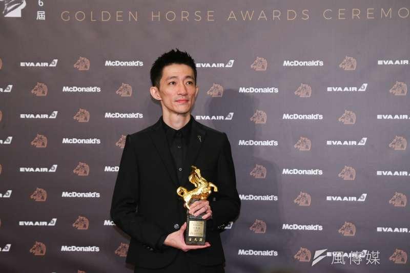 第56屆金馬獎頒獎典禮今日頒獎,徐漢強以《返校》獲得最佳新導演。(顏麟宇攝)