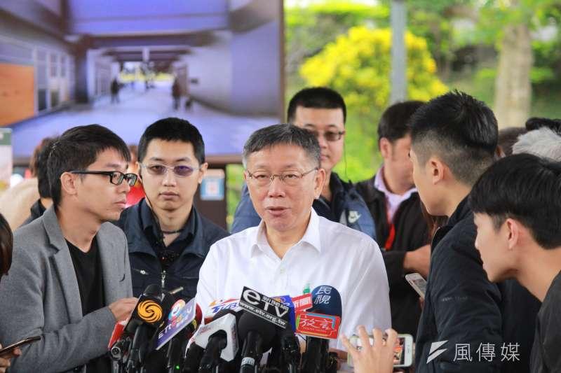 20191126-台北市長柯文哲26日上午出席和興水岸社會住宅統包工程開工典禮。(方炳超攝)