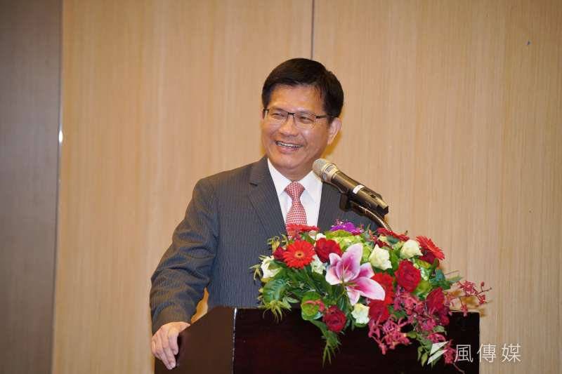 20191128-交通部長林佳龍28日出席「中華航空公司與漢翔公司合作意向書簽署儀式」。(盧逸峰攝)