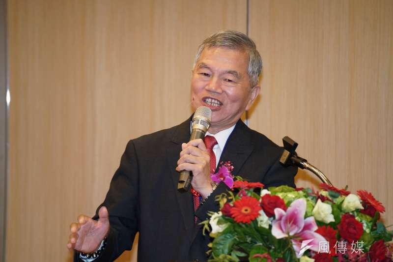20191128-經濟部長沈榮津28日出席「中華航空公司與漢翔公司合作意向書簽署儀式」。(盧逸峰攝)
