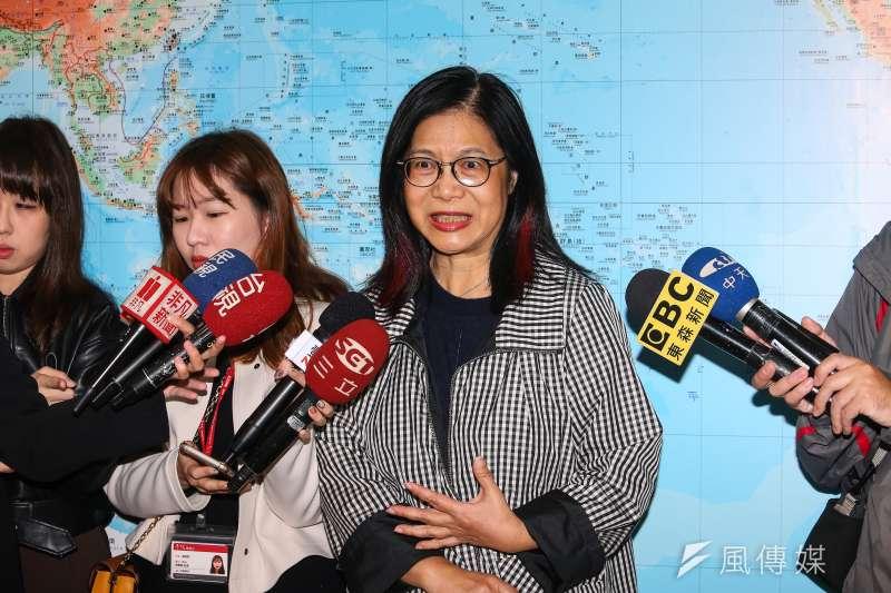 20191128-民進黨立委管碧玲28日借受媒體聯訪。(顏麟宇攝)