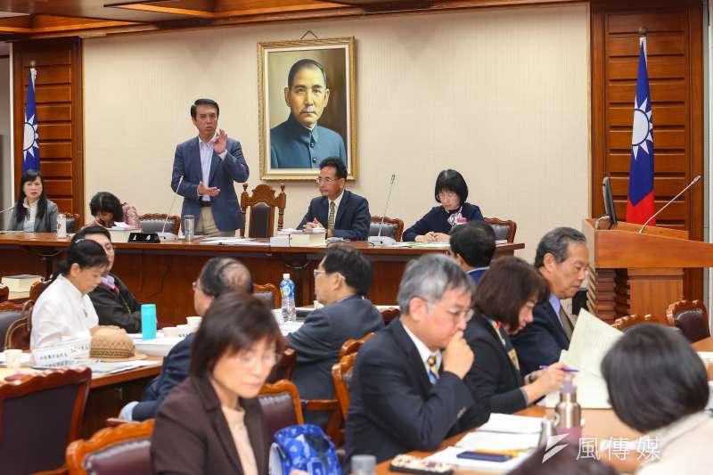 20191128-國民黨立委陳學聖28日出席「確立違反學術倫理案件客觀公正之處理原則」公聽會。(顏麟宇攝)