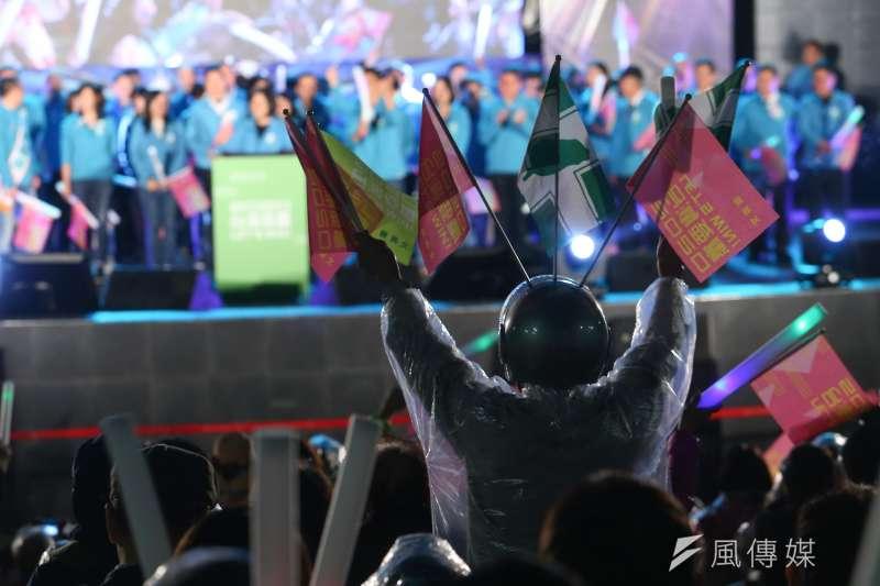 20191129-民進黨29日舉行台灣搖滾派對,為台北市八位立委參選人造勢。(顏麟宇攝)