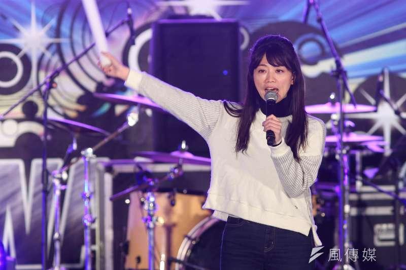 20191129-民進黨立委參選人高嘉瑜29日出席台灣搖滾派對。(顏麟宇攝)