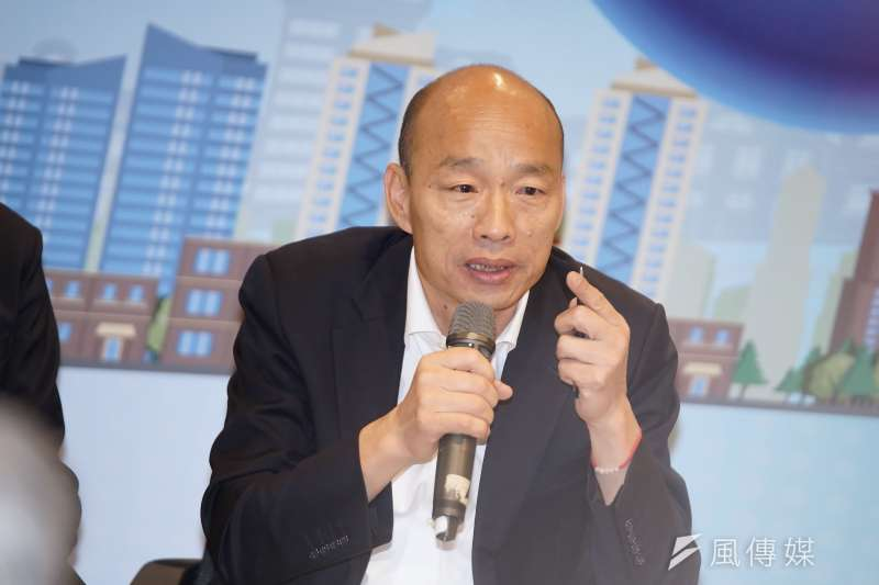 新台灣國策智庫最新民調顯示,前高雄市長韓國瑜(見圖)是最被討厭的台北市長可能參選人,有37.8%民眾表示最討厭他。(資料照,盧逸峰攝)