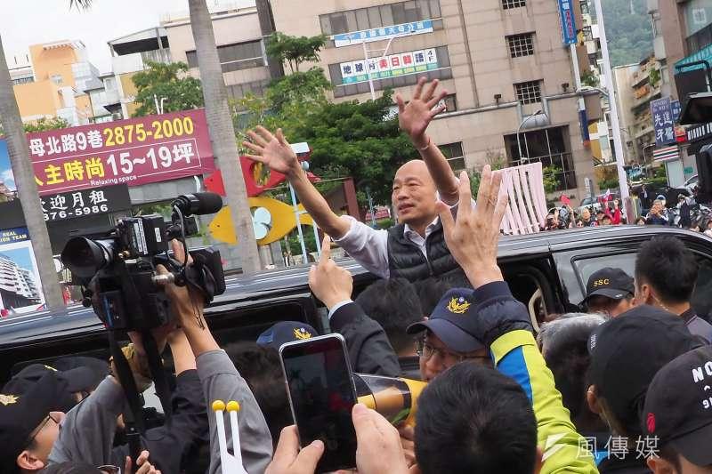 國民黨總統參選人韓國瑜(見圖)1日回防高雄,一早從阿蓮區出發,共跑了8場立委聯合造勢。(資料照,林瑞慶攝)