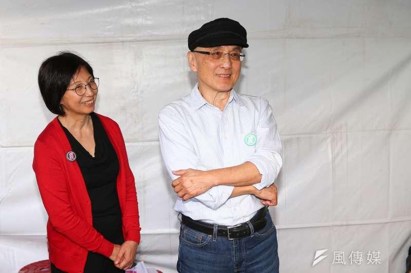 20191201-民進黨立委參選人吳怡農父親吳乃德1日出席競選總部成立大會。(顏麟宇攝)