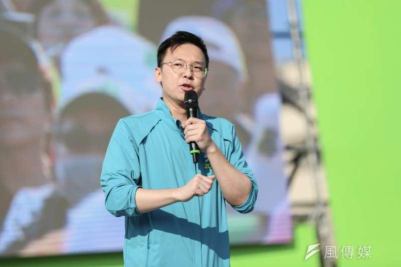 民進黨副祕書長林飛帆批評國民黨主席吳敦義發言,非常不尊重女性。(資料照片,簡必丞攝)