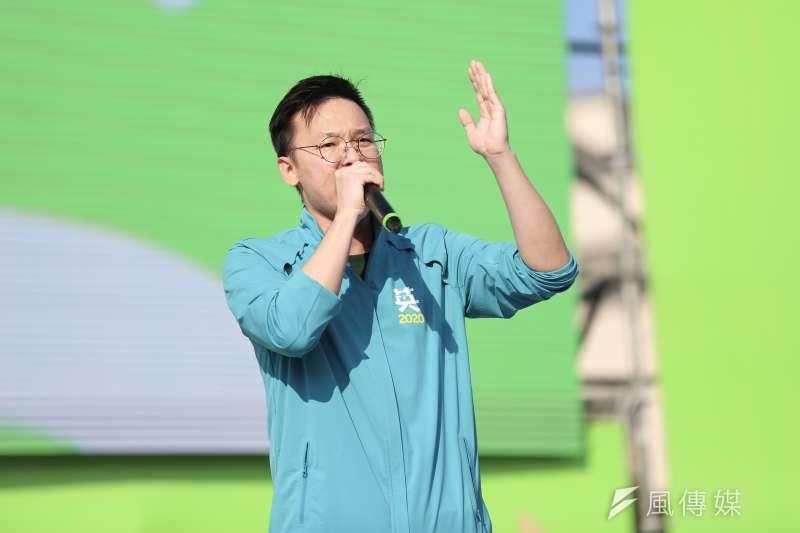 20191201-民進黨副秘書長林飛帆1日出席2020蔡英文總統連任新北市競選總部開幕。(簡必丞攝)