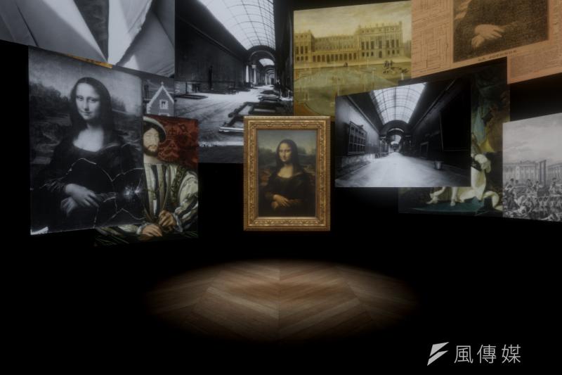 故宮與羅浮宮「達文西500週年特展」同步展出《蒙娜麗莎:越界視野》VR作品(圖/國立故宮博物院提供)