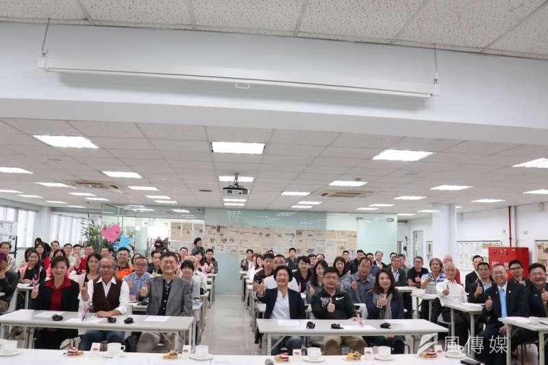 彰化縣工商發展投資策進會2日下午在花壇鄉全拓工業公司舉辦座談及幸福企業參訪。(圖/記者王秀禾攝)