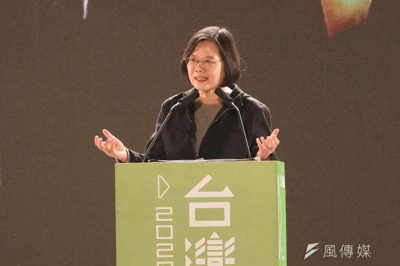 20191203-總統蔡英文3日出席「蔡英文社群之夜」活動。(盧逸峰攝)