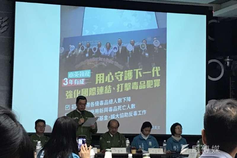20191204-民進黨4日開始啟動行動中常會,首站來到彰化,訴求「反毒、反黑、反滲透」。(黃信維攝)