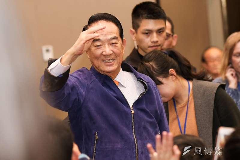 親民黨總統候選人宋楚瑜提出「內閣制」主張。(簡必丞攝)