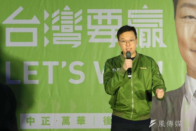 民進黨副秘書長林飛帆反擊韓國瑜。(資料照片,顏麟宇攝)
