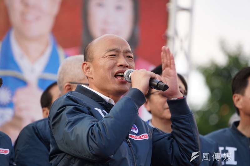 國民黨總統候選人韓國瑜接受電視節目專訪時表示,並未覺得對不起高雄市民,韓市府做的事情真的非常多。(資料照,盧逸峰攝)