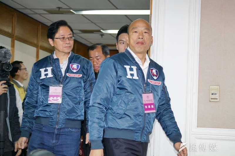國民黨正副總統召集人韓國瑜、張善政。(盧逸峰攝)