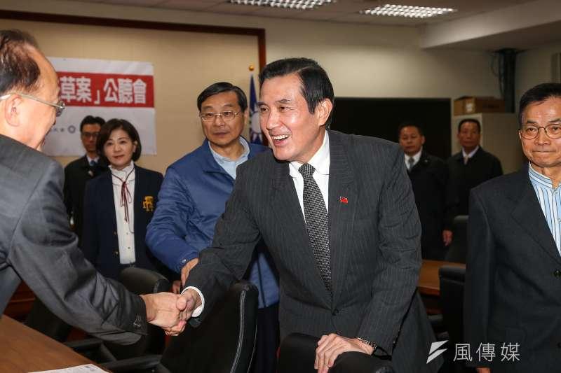 20191210-前總統馬英九10日出席立法院國民黨團「反滲透法草案」公聽會。(顏麟宇攝)