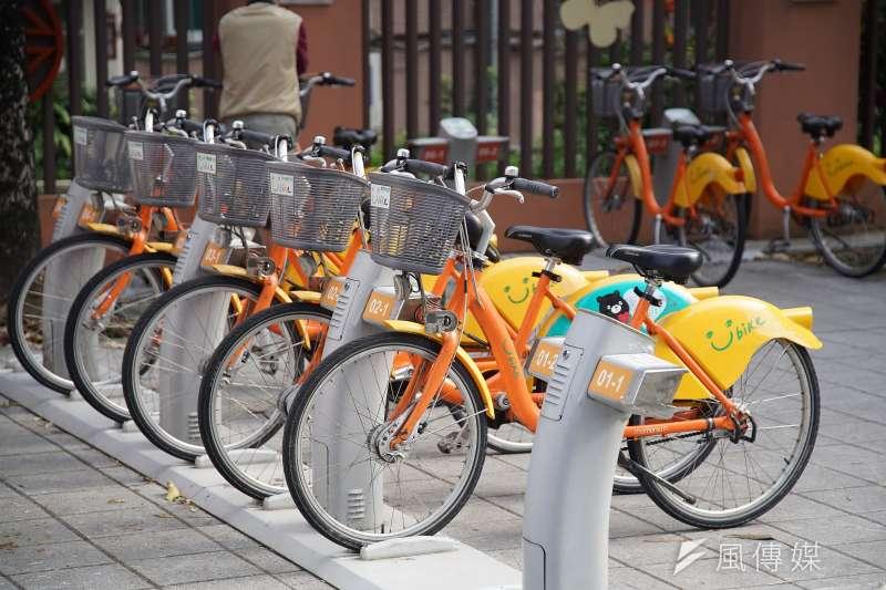 北市府稱,台北市YouBike即將從1.0升級成2.0,自行車站點會從400個變1200個。(資料照,盧逸峰攝)