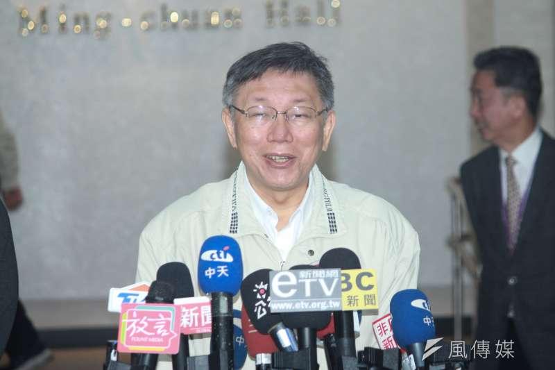 台北市長柯文哲(見圖)10日受訪表示,當年他在台大醫院的時候,台大醫院是很大牌的醫院,通常立委來「我們都叫他去排隊」。(資料照,方炳超攝)