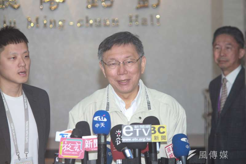 談及民眾黨選情,台北市長柯文哲10日於市政會議前表示,2022年到2024年,能量要撐過去,如果真的選得很差,一卸任等於空間就很狹窄了。(方炳超攝)