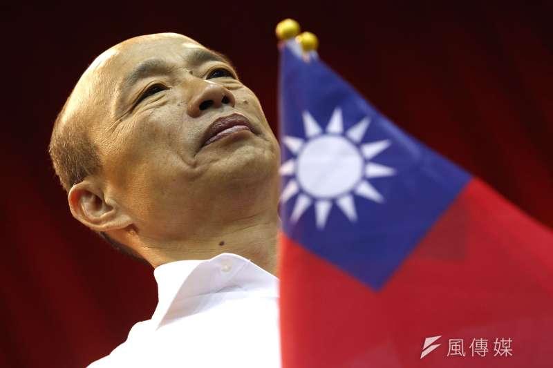 大選最後一個月倒數計時,韓國瑜用奇襲來應對蔡英文的穩扎穩打,呼籲支持者抵制民調。(郭晉瑋攝)